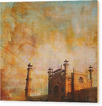 Badshahi Mosque Wood Print by Catf