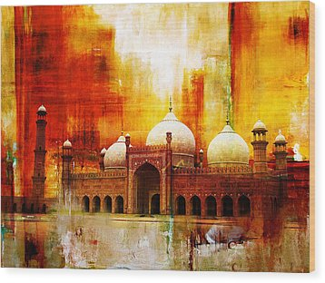Badshahi Mosque Or The Royal Mosque Wood Print by Catf