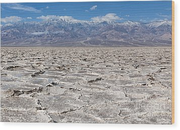 Badwater Basin - Death Valley Wood Print by Sandra Bronstein