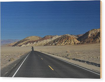 Wood Print featuring the photograph Badwater Road - Death Valley by Dana Sohr