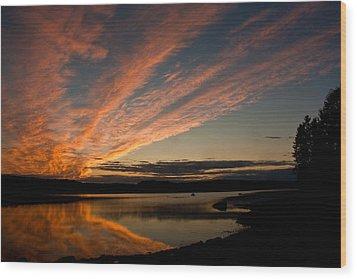 Bagaduce Sunset Wood Print by Greg DeBeck