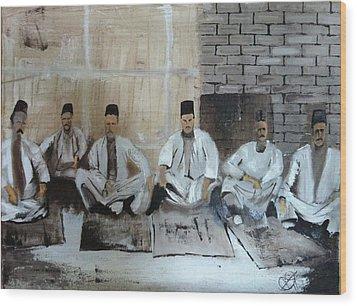 Baghdadi Jews 1920's Wood Print by Rami Besancon