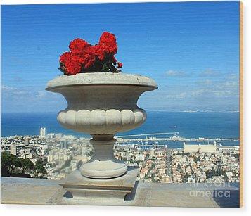 Bahai's Garden - Haifa Wood Print by Jason Sentuf