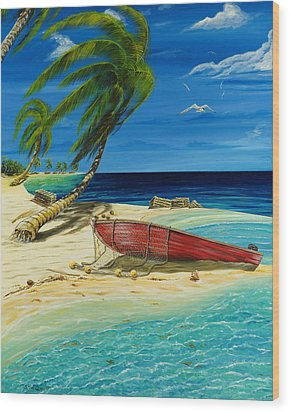 Bahama Beach Wood Print by Steve Ozment