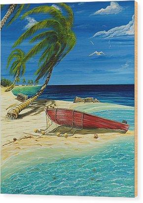 Bahama Beach Wood Print