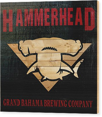 Bahamas Beer Sign Wood Print by Ken Reardon