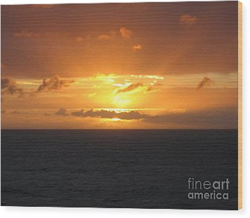 Bahamas Ocean Sunset Wood Print by John Telfer