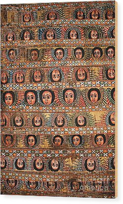 Bahar Bahir Dar Ethiopia Bright Colour Painted Church Ceiling Wood Print