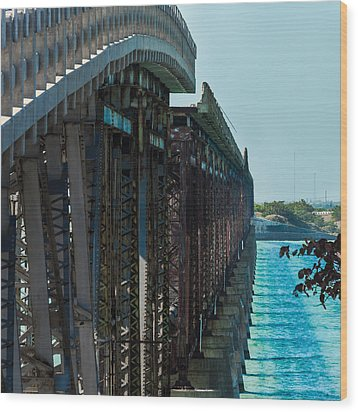 Bahia Honda Bridge Patterns Wood Print
