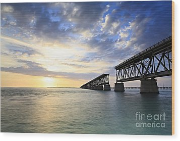 Bahia Honda Old Bridge Wood Print by Eyzen M Kim