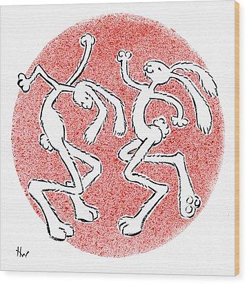 Bailamos Wood Print