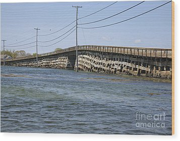 Bailey Island Bridge - Harpswell Maine Wood Print by Erin Paul Donovan