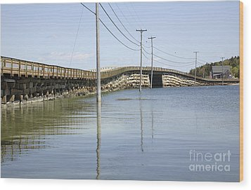 Bailey Island Bridge - Harpswell Maine Usa Wood Print by Erin Paul Donovan