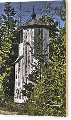 Wood Print featuring the photograph Baileys Harbor Range Lighthouse by Deborah Klubertanz