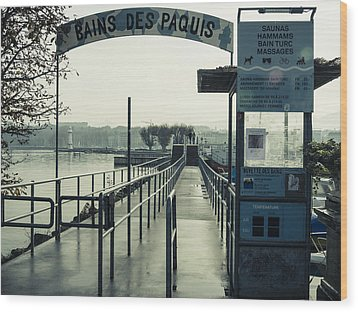 Wood Print featuring the photograph Bains Des Paquis by Muhie Kanawati