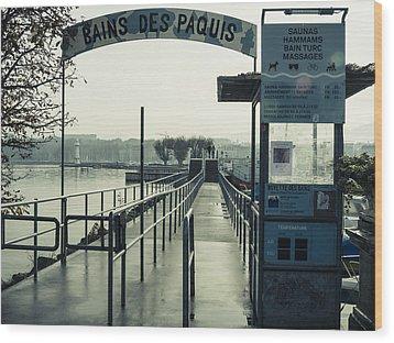 Bains Des Paquis Wood Print by Muhie Kanawati