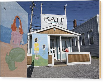 Bait And Tackle Greenport New York Wood Print