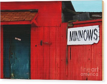 Bait Shop 20130309-2 Wood Print by Wingsdomain Art and Photography