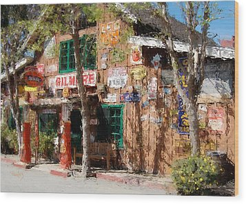 Baja Cantina - Carmel Valley Ca Wood Print