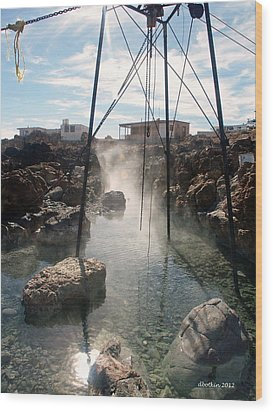 Wood Print featuring the photograph Baja Hot Springs by Dick Botkin