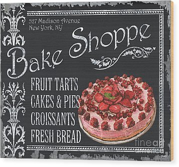 Bake Shoppe Wood Print by Debbie DeWitt
