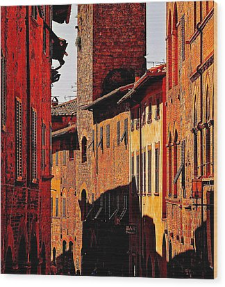 Baked In The Tuscan Sun Wood Print by Ira Shander
