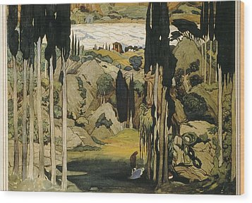 Bakst, Léon 1866-1924. Daphnis Et Wood Print by Everett