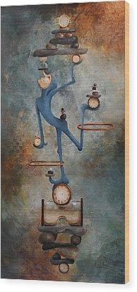 Balance Wood Print by Lorraine Ulen
