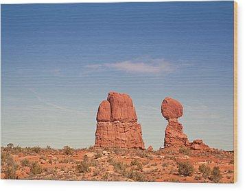 Balance Rock Wood Print