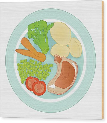 Balanced Meal Wood Print by Jeanette Engqvist