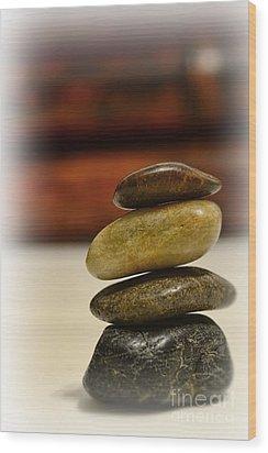 Balanced Wood Print by Paul Ward