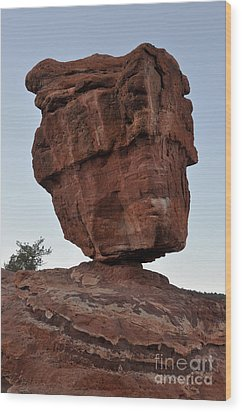 Wood Print featuring the photograph Balanced Rock by Cheryl McClure
