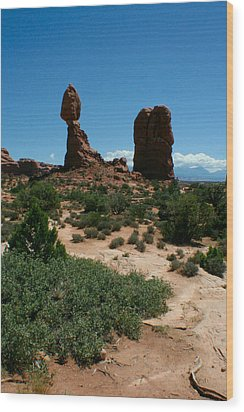 Wood Print featuring the photograph Balanced Rock by Jon Emery
