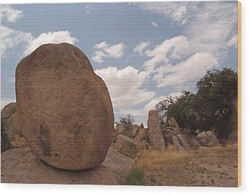 Balanced Rock Wood Print