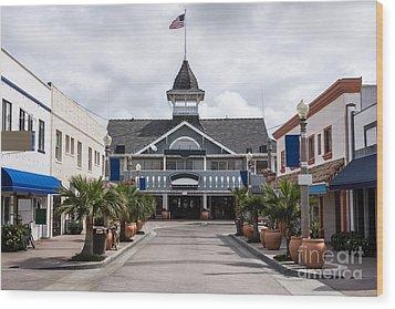 Balboa Downtown Main Street In Newport Beach Wood Print by Paul Velgos