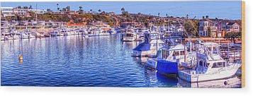 Balboa Island - South Wood Print by Jim Carrell