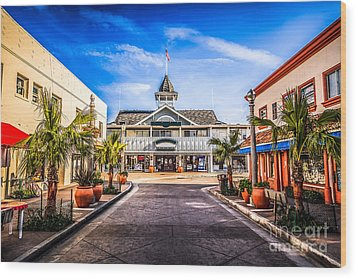 Balboa Main Street In Newport Beach Picture Wood Print by Paul Velgos