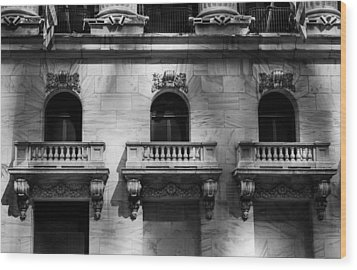 Balconies At Nyse  Wood Print