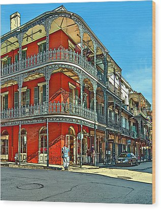 Balconies Painted Wood Print