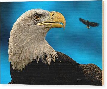 Bald Eagle And Fledgling  Wood Print by Bob Orsillo