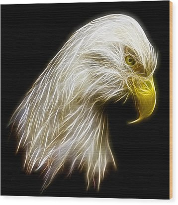 Bald Eagle Fractal Wood Print by Adam Romanowicz
