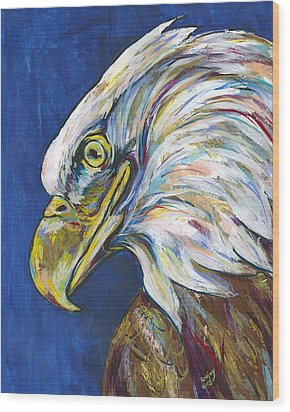 Bald Eagle Wood Print by Lovejoy Creations