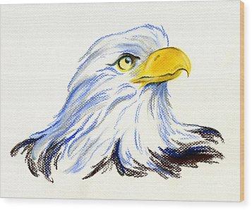 Bald Eagle Portrait Wood Print by MM Anderson