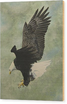 Wood Print featuring the painting Bald Eagle by Stan Tenney