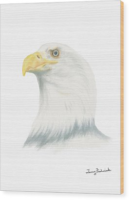 Bald Eagle Wood Print by Terry Frederick