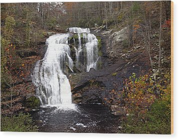 Wood Print featuring the photograph Bald River Falls by Robert Camp
