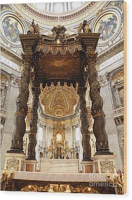 Baldacchino Di San Pietro Wood Print by Eva Kaufman