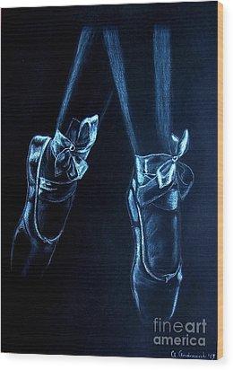 Balerinas Wood Print by Anna Androsovski