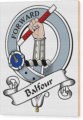 Balfour Clan Badge Wood Print by Heraldry
