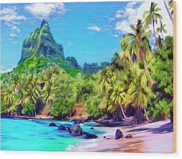Bali Hai Wood Print by Dominic Piperata